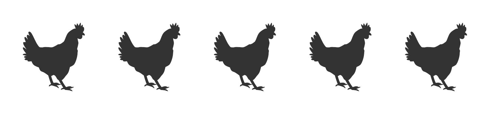 Five Hens