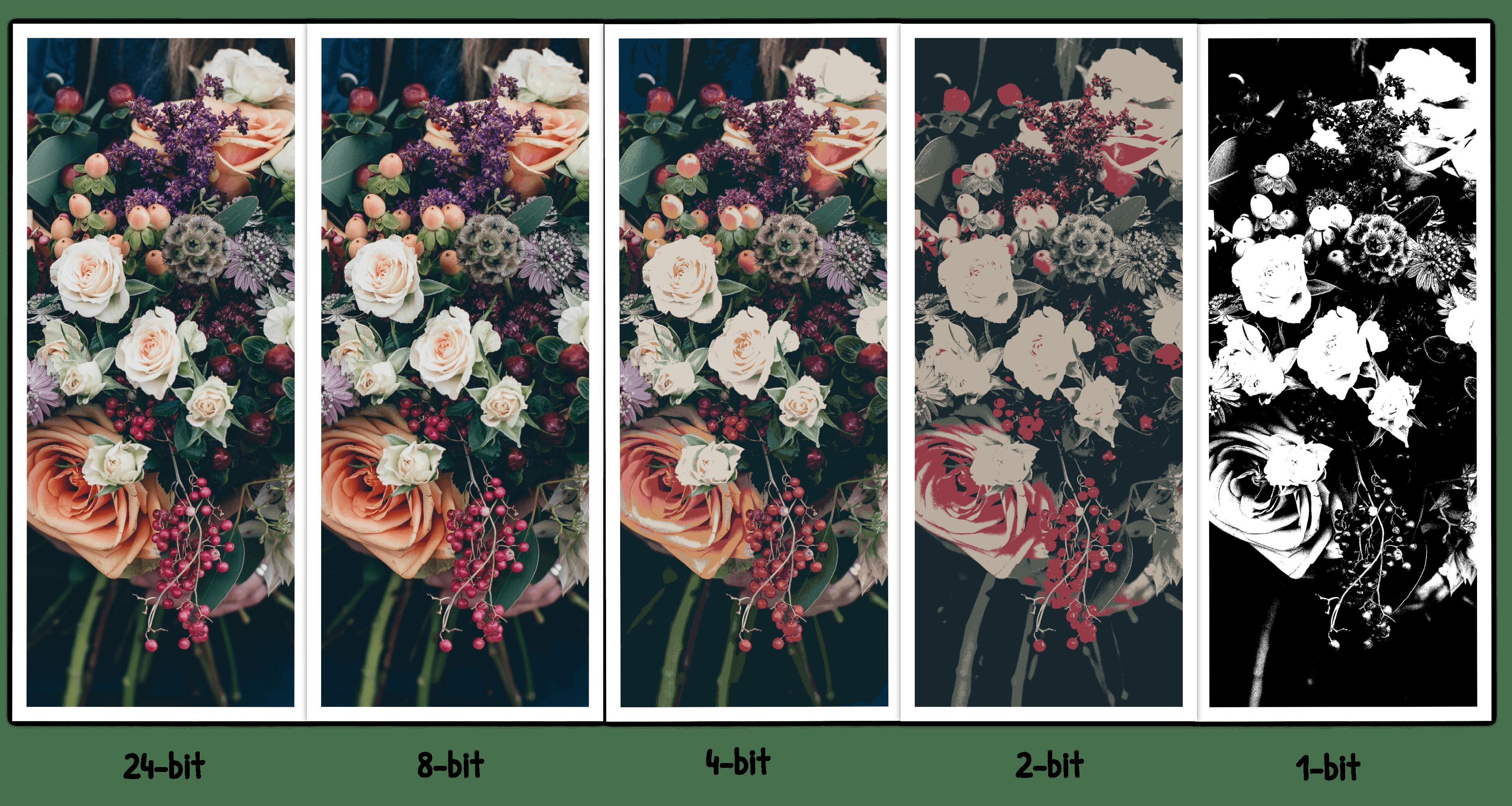 Colour depth comparison